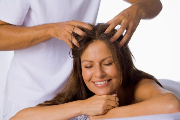 Head massage to improve hair growth