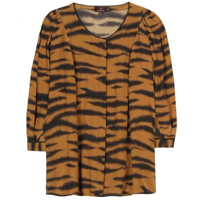 Mulberry_blouse with tiger print