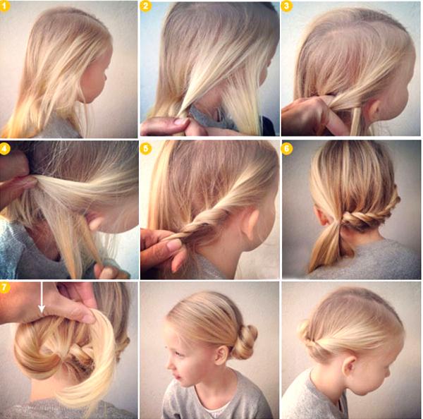 Лёгкие причёски для девочек в школу самой себе