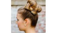 Hair bun with a bow 1