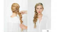 Wide braid on one side