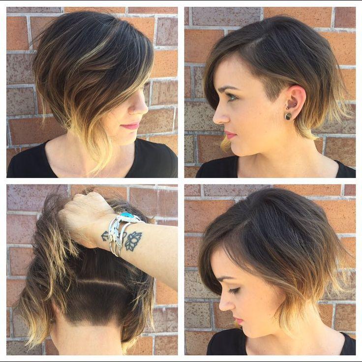 Женские прически с выбритым виском на короткие волосы