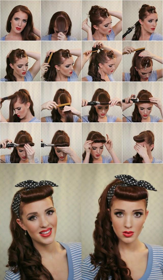 Пин ап стиль прически для коротких волос